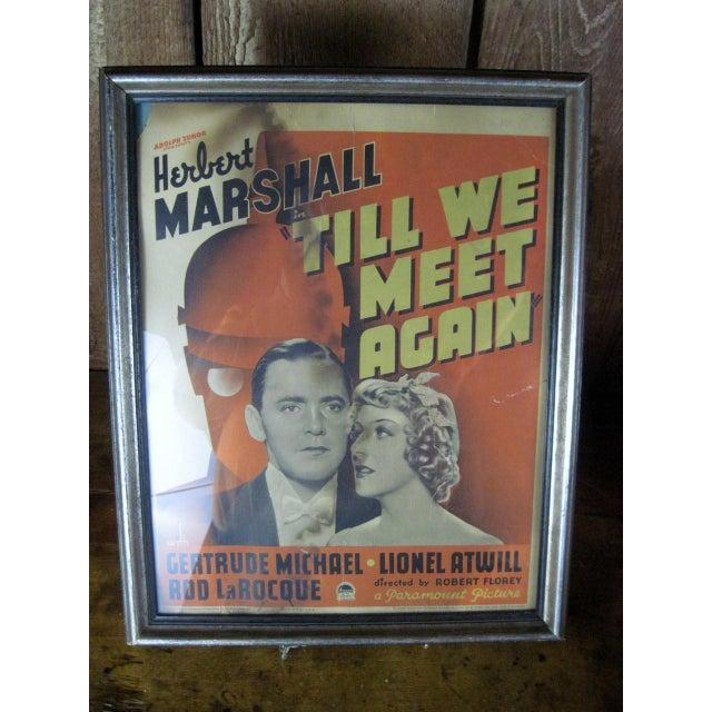 "Vintage Original Movie Poster ""Till We Meet Again"" Circa 1936 - Image 4 of 5"