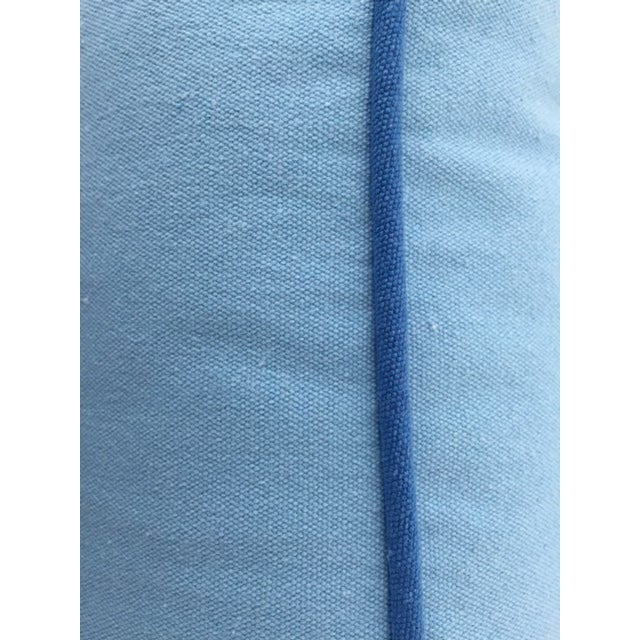Paradise Collection Cornflower Blue & Ink Blue Welt Down Pillow - Image 4 of 4