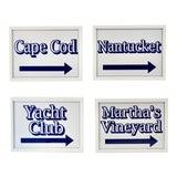 Image of Nantucket, Martha's Vineyard Cape Cod Beach Signs For Sale