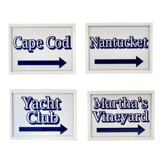 Nantucket, Martha's Vineyard Cape Cod Beach Signs For Sale