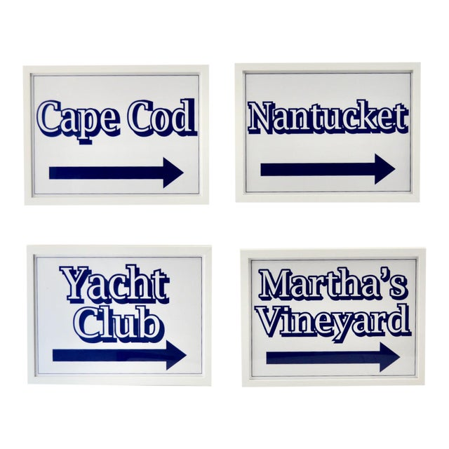 Nantucket, Martha's Vineyard Cape Cod Beach Signs For Sale