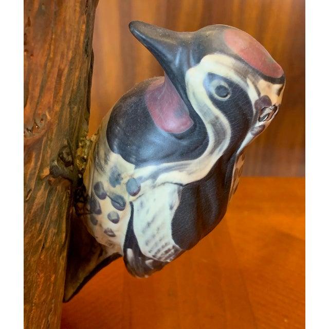 Weller Woodcraft Baldin Jardiniere With Woodpecker For Sale In Tampa - Image 6 of 11
