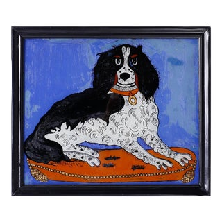 Chinese Reverse Painting of a Dog For Sale