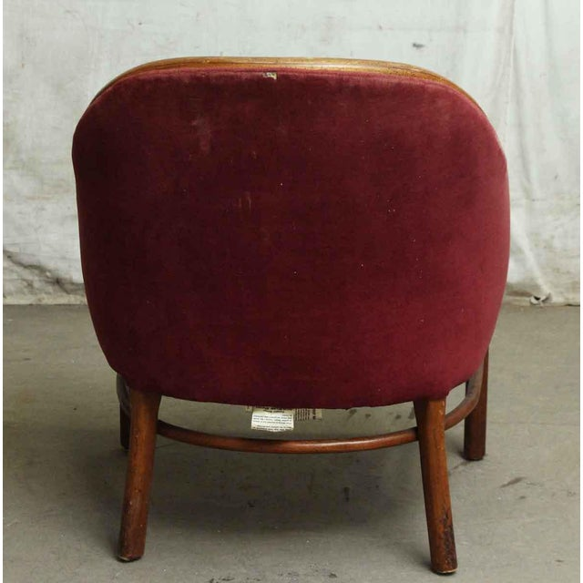 Shelby Williams Industries Red Upholstered Chairs - A Pair - Image 6 of 7