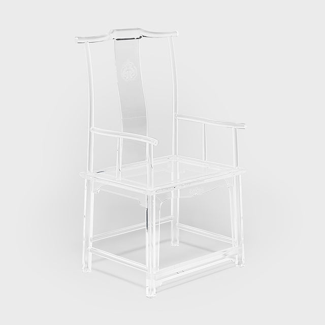 Transparent Invisible Administrator's Chair by July Zhou For Sale - Image 8 of 8