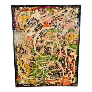 Harald Marinius Olson Abstract Composition - Acrylic on Canvas For Sale