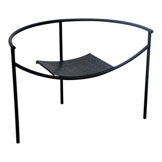 Early Matte Black Doctor Sonderbar Armchair by Philippe Starck For Sale