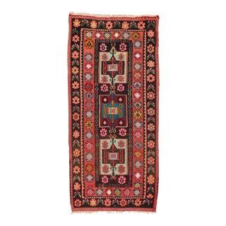 Vintage Anatolian Kilim Rug - 4′10″ × 10′5″ For Sale