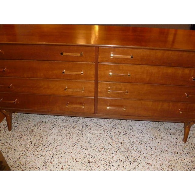 Brass Mid-Century Chest of Drawers by Renzo Rutili for Johnson Furniture For Sale - Image 7 of 7