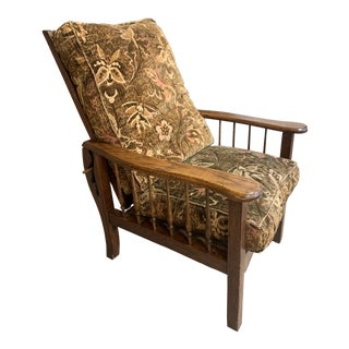 Antique Mission Oak Morris Chair For Sale
