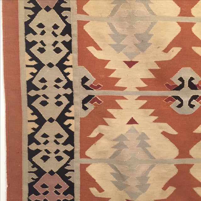 Neutral Tone Kilim Rug - 5′5″ × 8′ - Image 3 of 7
