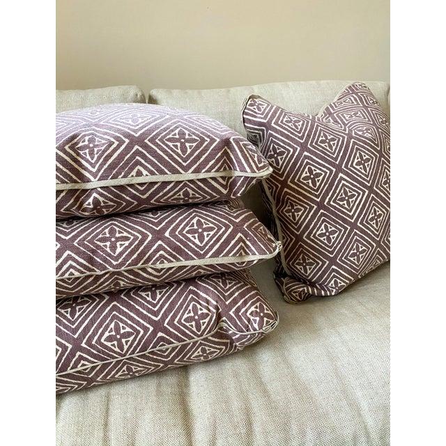 China Seas Quadrille China Seas Designer Made Fiorentina Throw Pillows - a Pair For Sale - Image 4 of 13