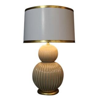 Costolato Mocha Crackle Ceramic Lamp