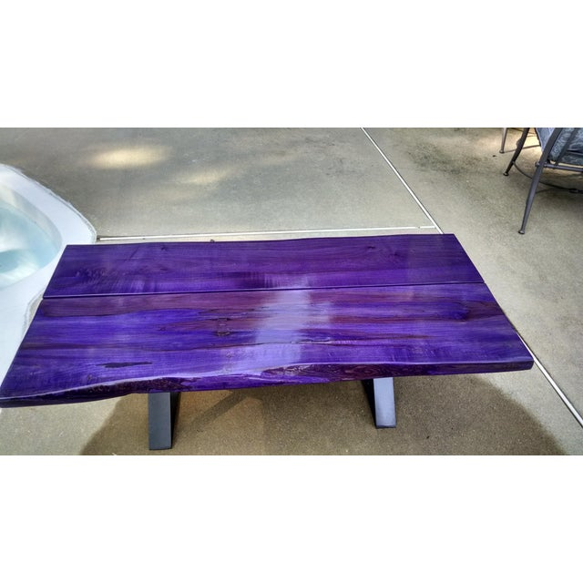 Modern Planked Table - Image 4 of 5