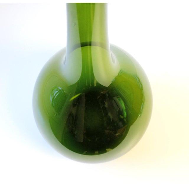 Large Gullaskruf Floor Vase Green Arthur Percy Sweden Art Glass - Image 2 of 5