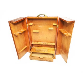 1940s Mid Century Modern Wood Portable Smoker's Pipe Cabinet Preview