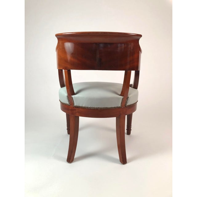 19th Century French Empire Period Mahogany Armchair For Sale In Boston - Image 6 of 12