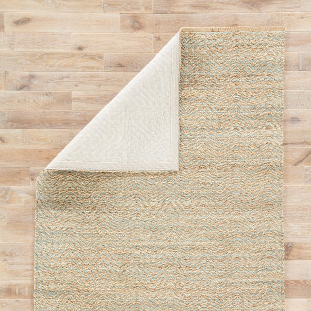 Jaipur Living Reap Natural Chevron Tan & Green Area Rug - 9'x12' For Sale - Image 4 of 6