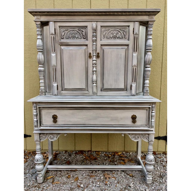 Antique Jacobean Style Hutch - Image 5 of 5