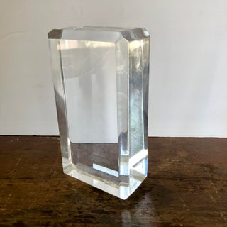 Ritts Astrolite Faceted Lucite Block Bookends-A Pair Preview
