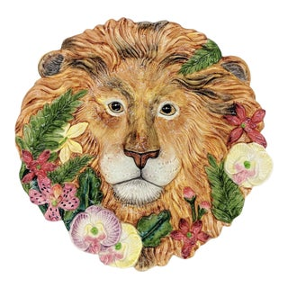 Vintage Fitz and Floyd Lion and Orchid Plate For Sale