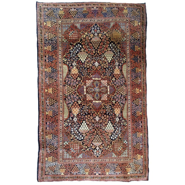 1880s, Handmade Antique Persian Dabir Kashan Rug 4.1' X 6.2' For Sale - Image 12 of 12