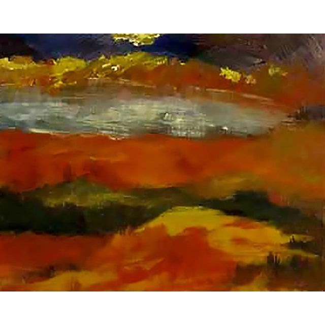 Abstract Expressionist Landscape Oil Painting by Barbara Leadabrand, American,(1922-1994) For Sale - Image 3 of 9