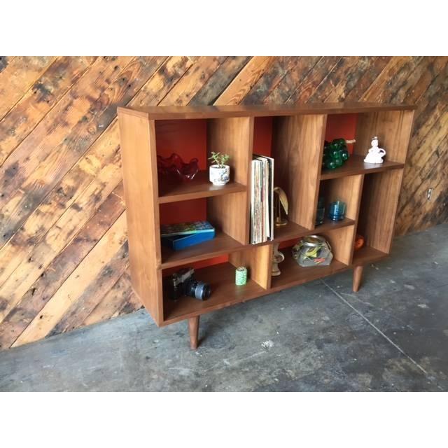 Mid Century Style Walnut Bookshelf - Image 4 of 5