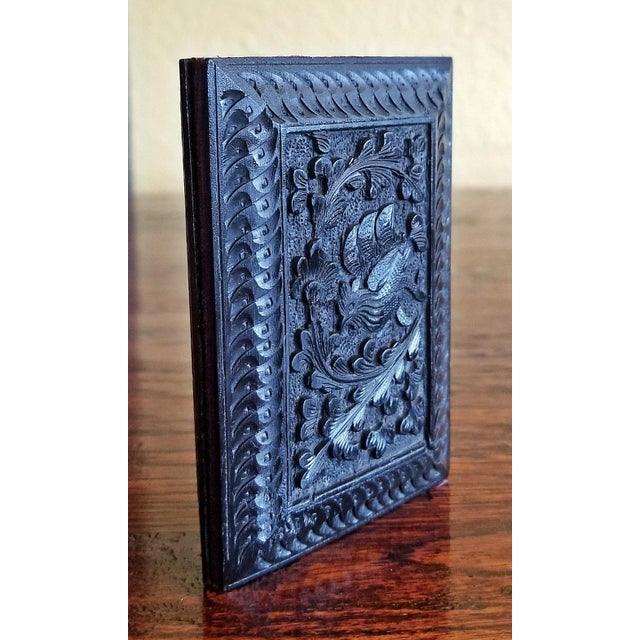 Anglo-Indian Late 19th Century Vintage Anglo Indian Ebony Calling Card Case For Sale - Image 3 of 9