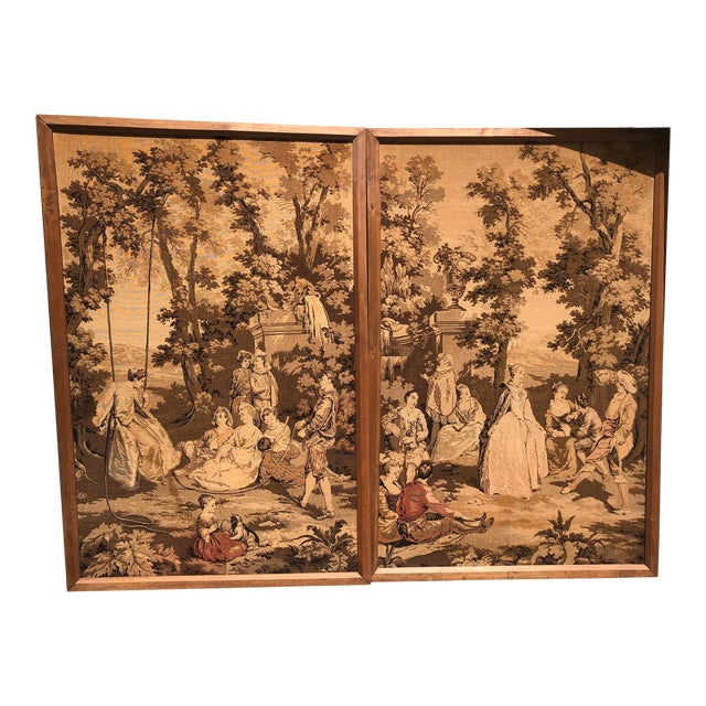 19th Century French Tapestries - a Pair For Sale