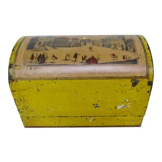 Distressed Italian Metal Box For Sale