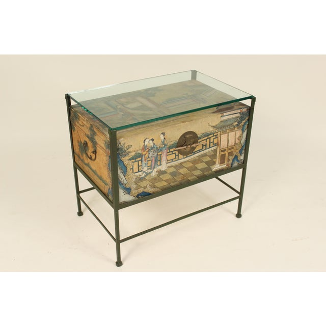 Chinese Polychrome Decorated Pigskin Occasional Table For Sale - Image 13 of 13