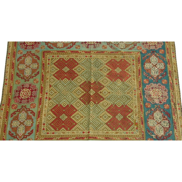 Empire Antique 1900s English Needlework Rug - 6′3″ × 6′3″ a For Sale - Image 3 of 5