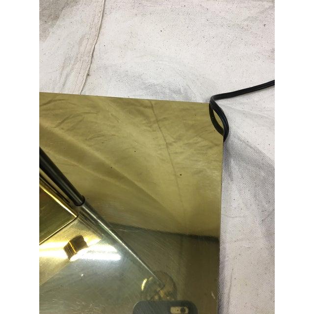 Italian Brass & Glass Floor Lamp For Sale - Image 4 of 8