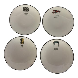 Kate Spade Concord Lenox China Tidbit Plates - Set of 4
