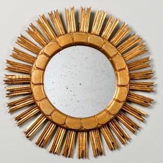 Mid-Century Medium Size Giltwood Sunburst Mirror Preview