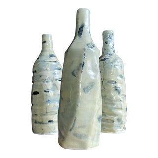 Artisan Studio Pottery Vases, Set of 3 For Sale