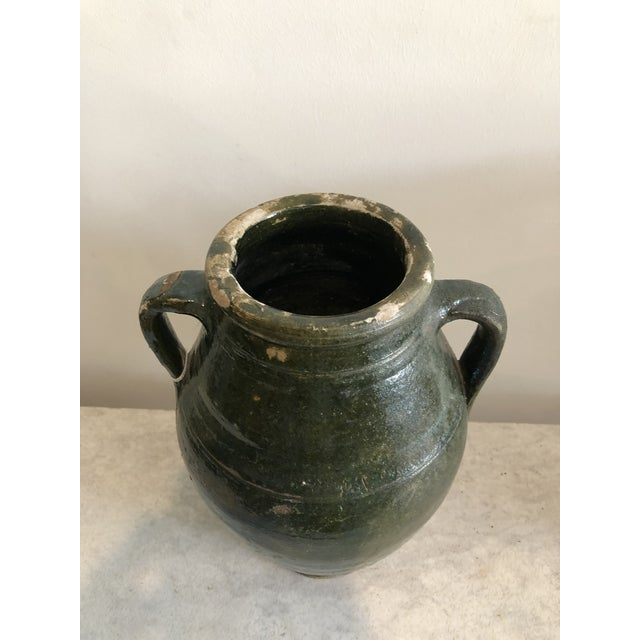 Early 20th Century Vintage Dark Glaze Olive Jars - Set of 3 For Sale - Image 9 of 13