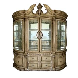 Baroque Style Illuminated China Cabinet For Sale