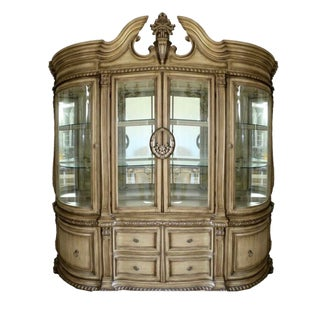 Super Close Out Sale !! Baroque Style Illuminated China Cabinet For Sale