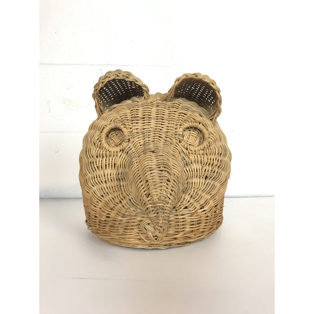 Vintage wicker owl head available. This is a very fun bohemian accent piece!