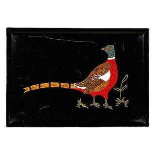 Couroc Pheasant Plastic Serving Tray For Sale