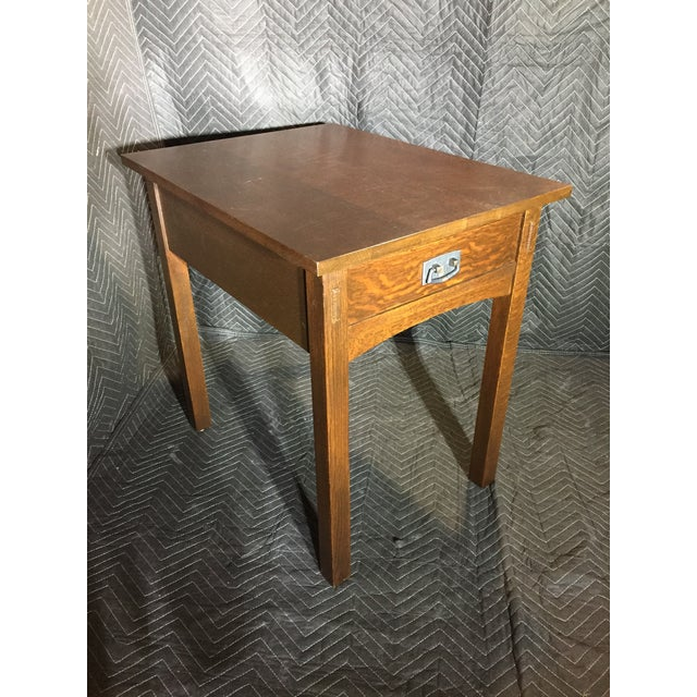 1980s Mission Collection 89-501 Rectangular End Table For Sale - Image 5 of 5