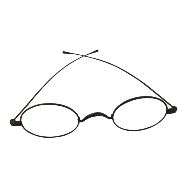 83c956f0f5a Civil War Era Wire Frame Eye Glasses - a great desk accessory! For Sale