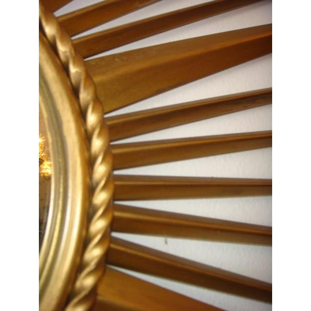 Chaty Vallauris Vintage Chaty Vallauris French Sunburst Mirror For Sale - Image 4 of 6