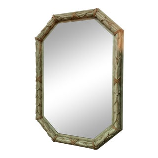 French Chateau Painted Mirror For Sale