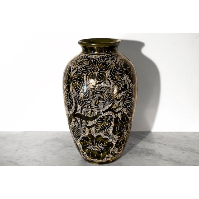 Lourdes Martinez Etched Ceramic Vase - Image 2 of 3