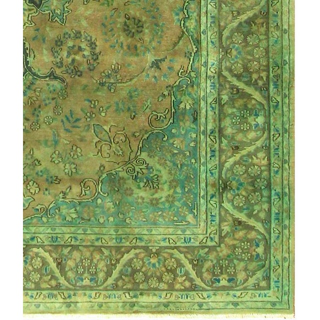 Over Dyed Color Reform Shakita Lt. Brown/Lt. Green Wool Rug - 7'9 X 11'4 For Sale - Image 4 of 7