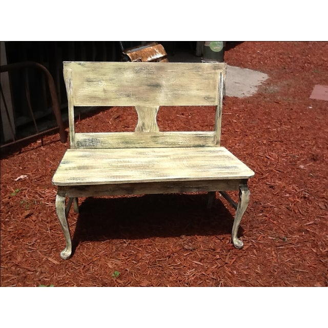 Rustic Distressed Bench - Image 3 of 6
