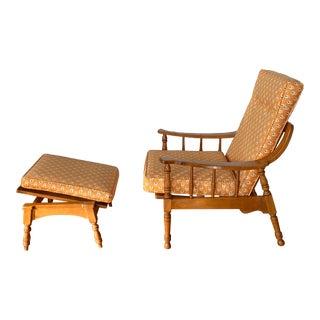 Mid-Century Forslund Chair & Ottoman For Sale